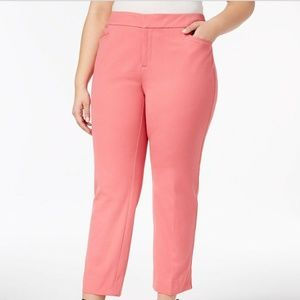 Charter Club Plus Size Slim-Leg Pants, Size 14W
